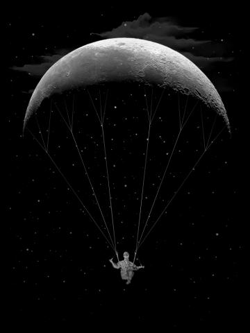 Parachute moon