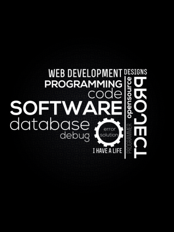 Programmer t-shirt: typography programming