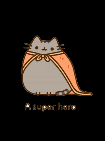 Pusheen superhero