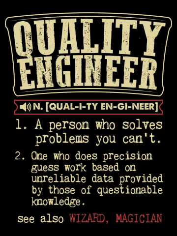 Quality Engineer Dictionary Term T-Shirt