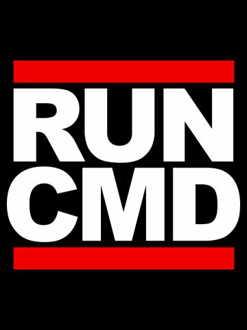 RUN CMD - white