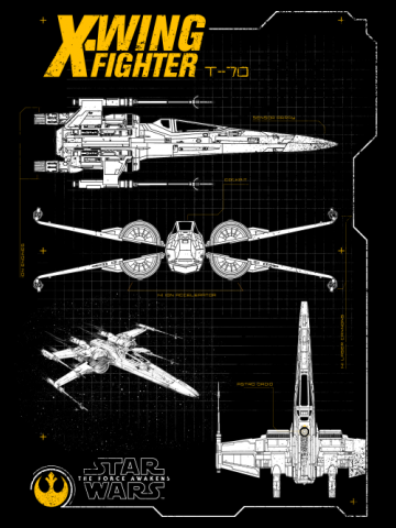 Resistance X-Wing Schematic