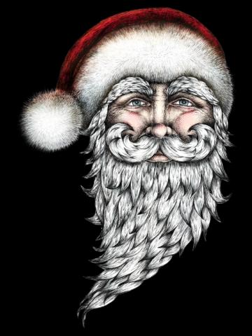 Retro Santa looking at you