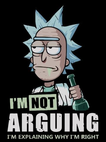 Rick - I'm not arguing