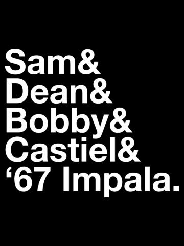 SUPERNATURAL Dean and Sam WINCHESTER Castiel Bobby Singer