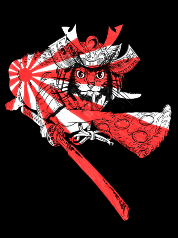 Samurai Cat & Pizza