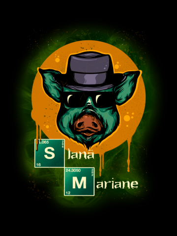 Slana Mariane Breaking Bad (culori inchise)