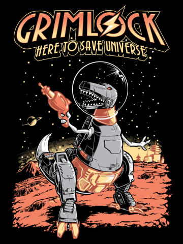 Space Pulp Robot Dinosaur Hero