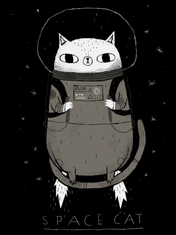 Space cat drawing