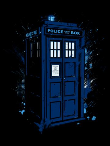Splashed Tardis - Doctor Who