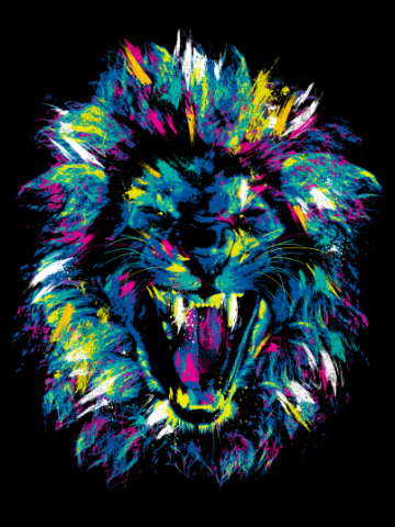 Splatter lion