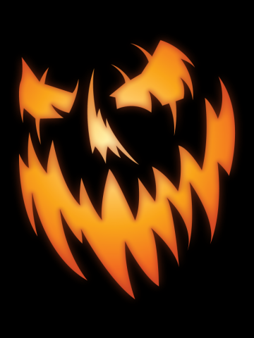 Spooky Jack O' Lantern  Halloween Tee Shirt