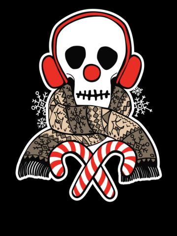 Stay Warm Holiday Skull
