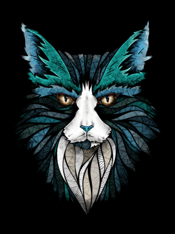Stylistic cat