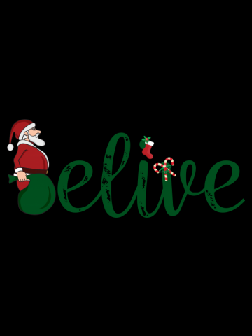T-shirt Believe in Christmas - Belief in Santa - Xmas gift
