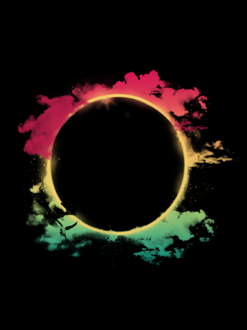 THE COLORFUL ECLIPSE
