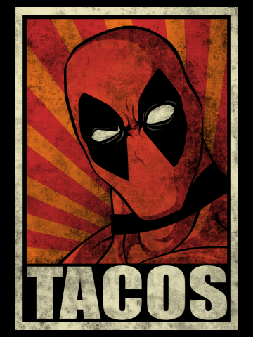 Tacos Distressed poster Art