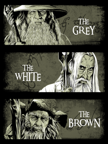 The Gray, The White, The Brown - Lord of the Rings