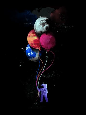 The Spaceman's vivid trip