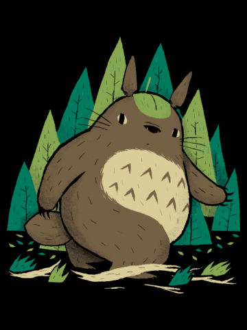 Totoro in the Woods