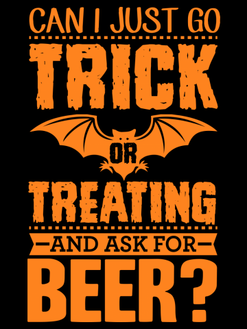 Trick Or Treat For Beer Halloween Pumpkin Adults  T-Shirt