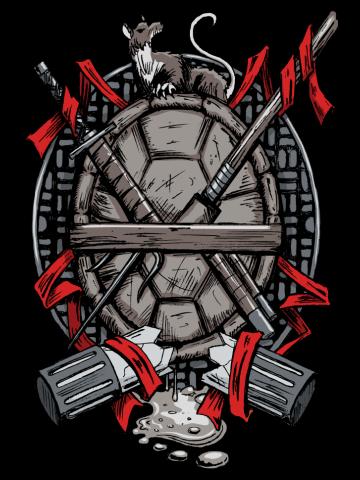 Turtle Family Crest (comic colors)