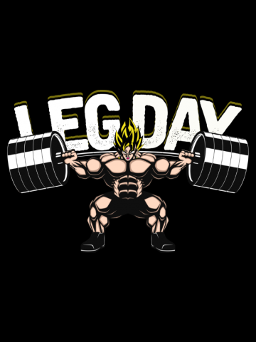 Vegeta Leg Day - Gym