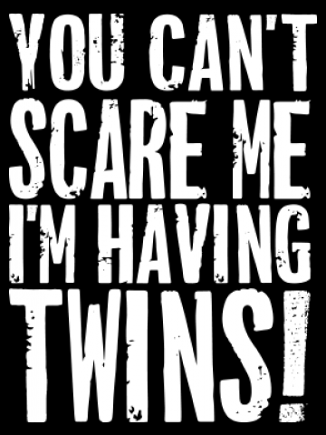 You can't scare me, I have twins