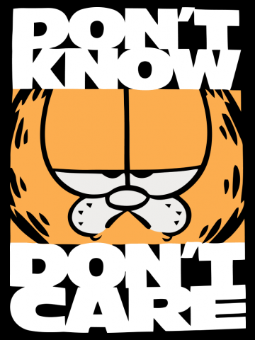 Nu stiu, nu-mi pasa - Garfield