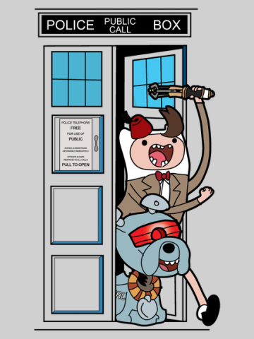 Adventure Time Lord in the TARDIS