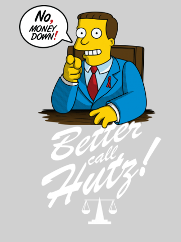 Better call Hutz - The Simpsons