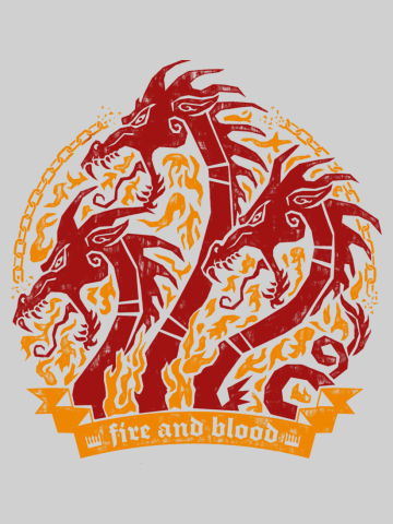 Fire & Blood Dragons Head - Game of Thrones