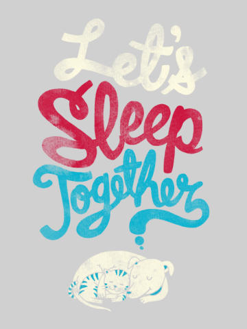 Let's sleep togeter - dog & cat