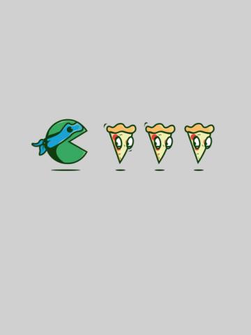 Pacman eat pizza