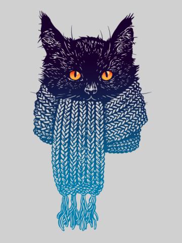 Pisica cu fular