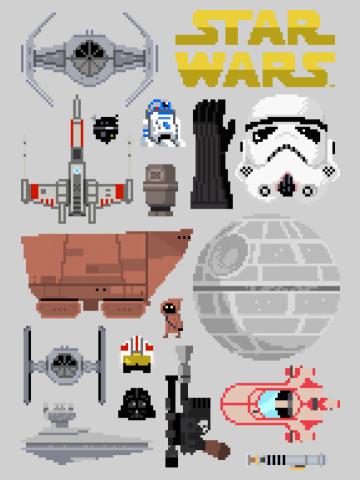 Pixelated Star Wars Kit