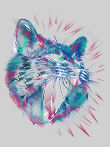 Raging cat