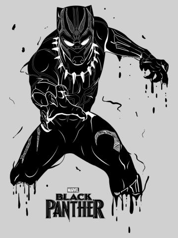 Splattered Panther