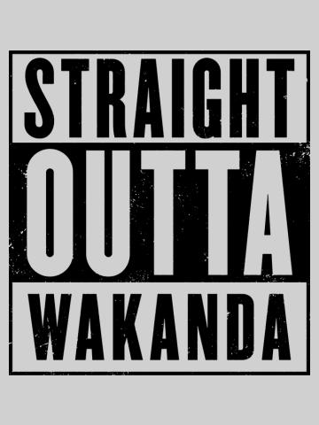Straight Outta Wakanda black
