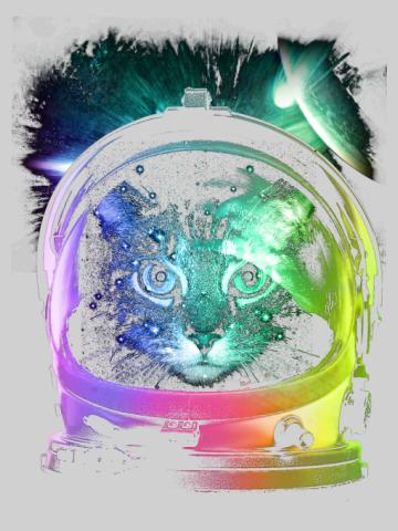 Trippy Astro Cat