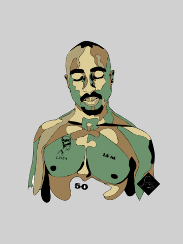 Tupac - Artistic portret