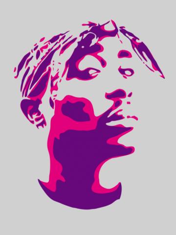 Tupac - Stencil