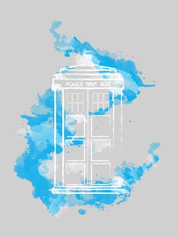 Watercolor police Box