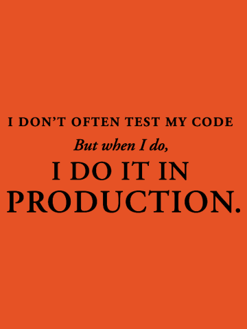 Test code in production
