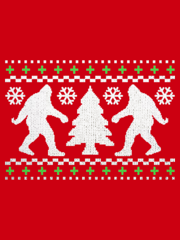Bigfoot Ugly Holiday Sweater