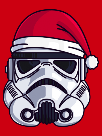 CHRISTMAS STORMTROOPER MINIMALIST