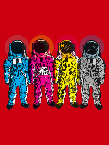 CMYK Spacemen