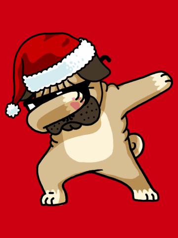 Dabbing Pug Shirt Cute Pug Dab Shirt Christmas Pugly Sweater