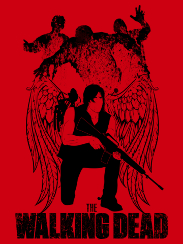 Daryl Dixon - Angel and Zombies