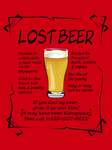 Lost Beer on Light